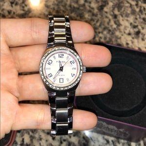 Iridescent fossil watch
